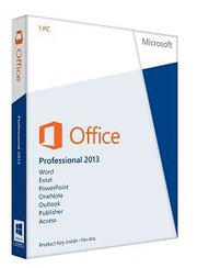 microsoft Office 2013 Professional Box.